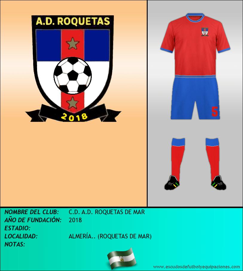 Escudo de C.D. A.D. ROQUETAS DE MAR
