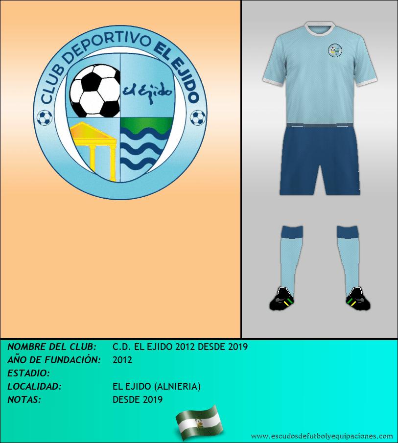 Escudo de C.D. EL EJIDO 2012 DESDE 2019
