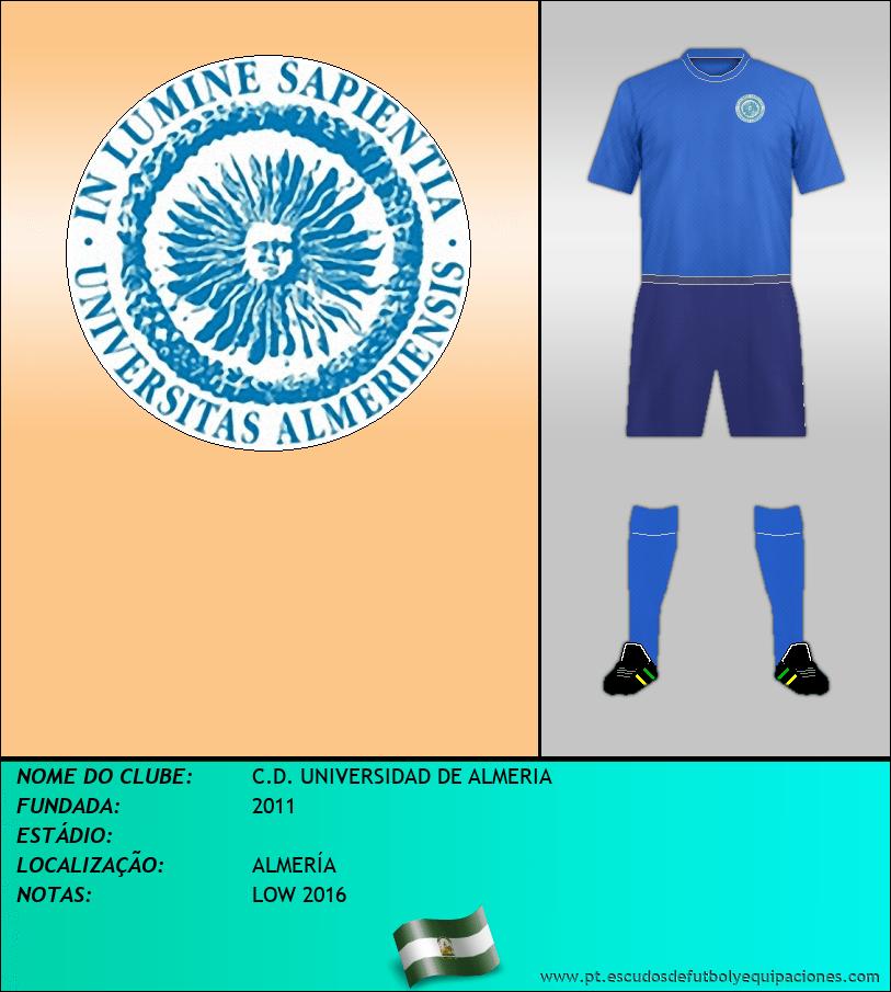 Escudo de C.D. UNIVERSIDAD DE ALMERIA