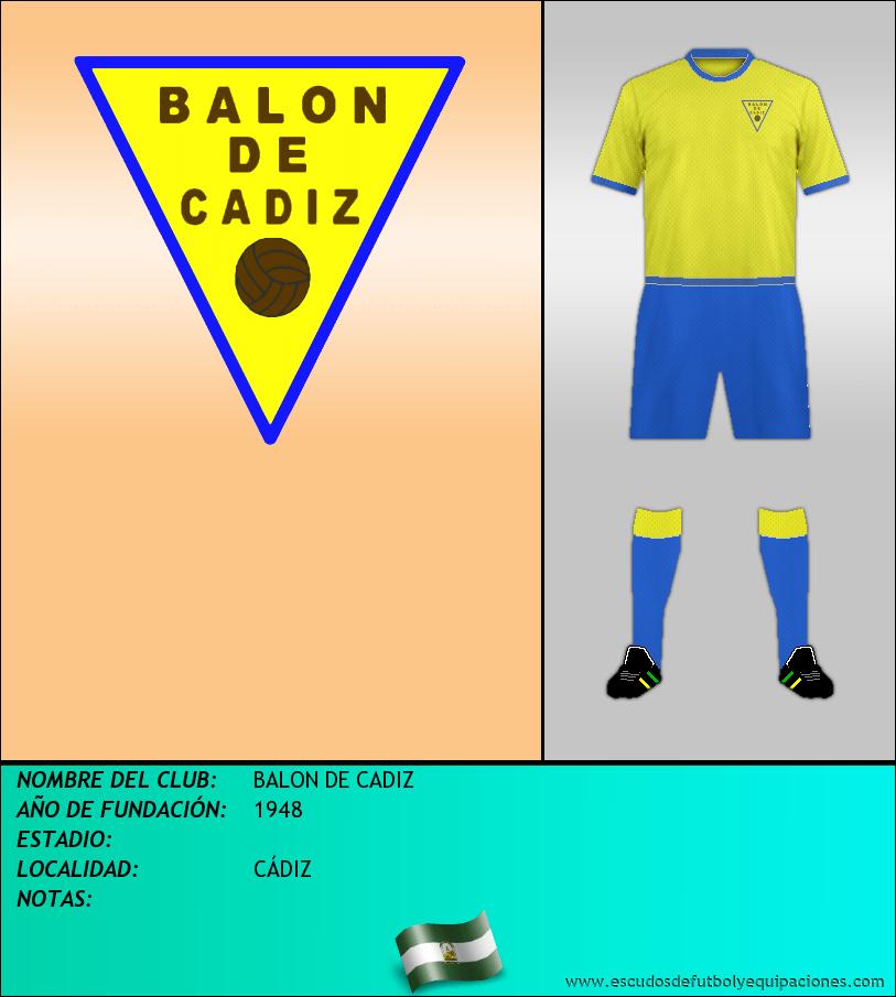 Escudo de BALON DE CADIZ