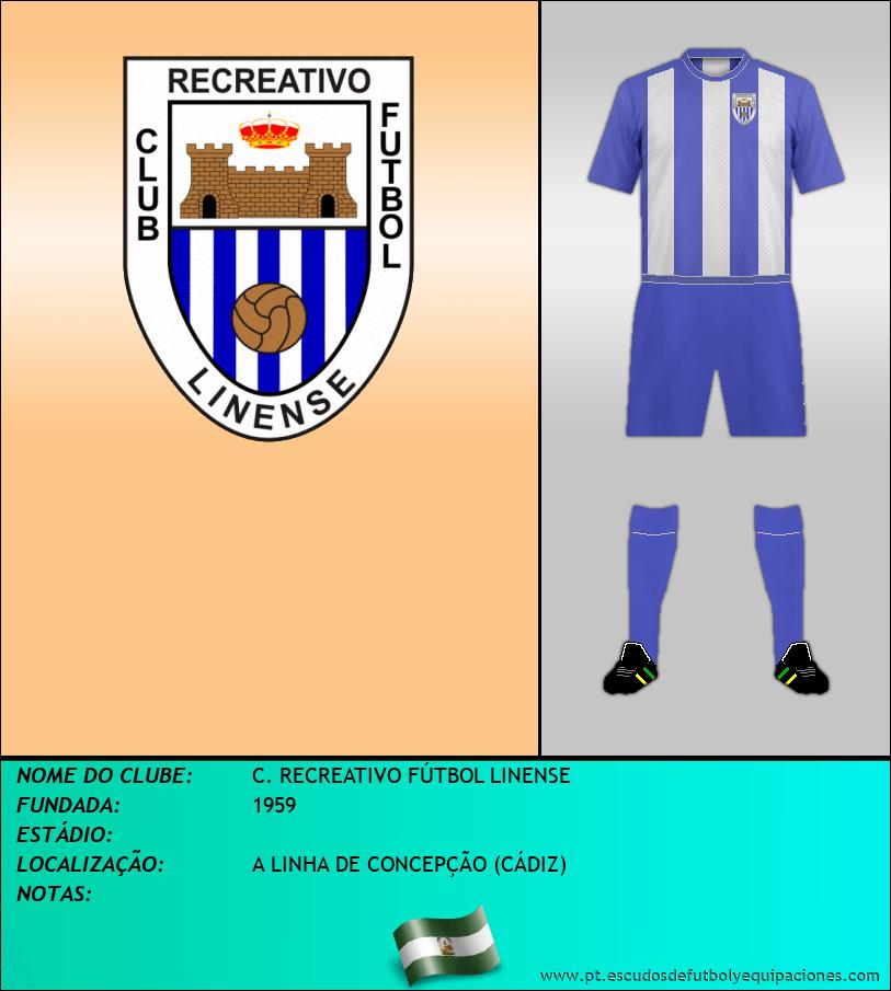 Escudo de C. RECREATIVO FÚTBOL LINENSE
