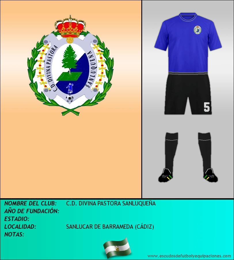 Escudo de C.D. DIVINA PASTORA SANLUQUEÑA