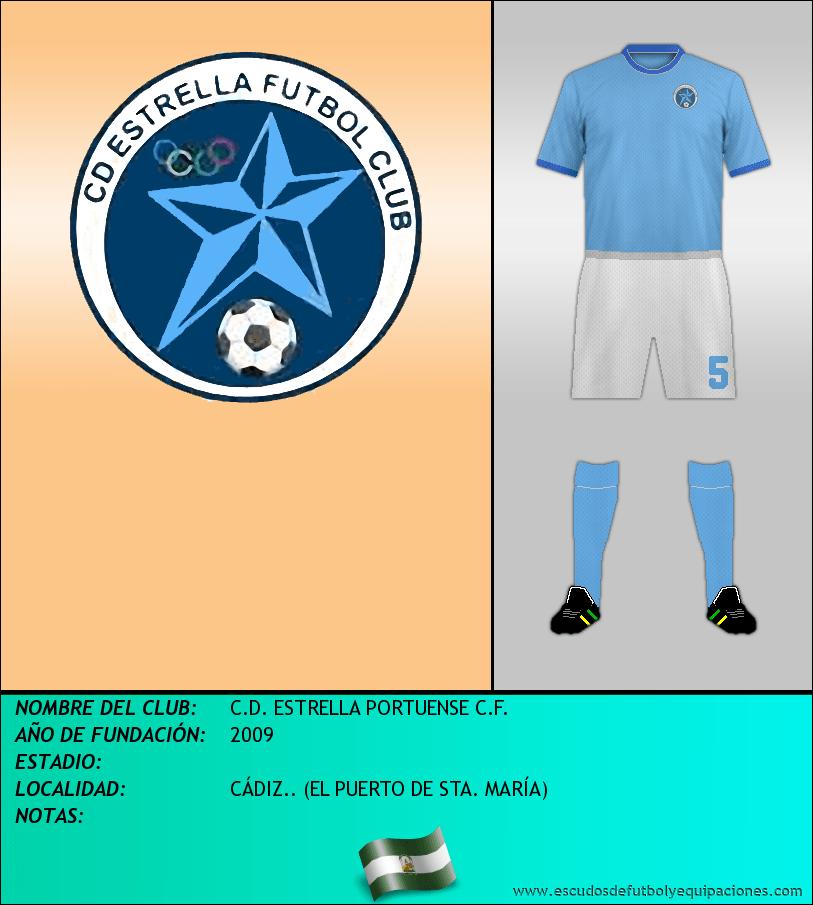 Escudo de C.D. ESTRELLA PORTUENSE C.F.