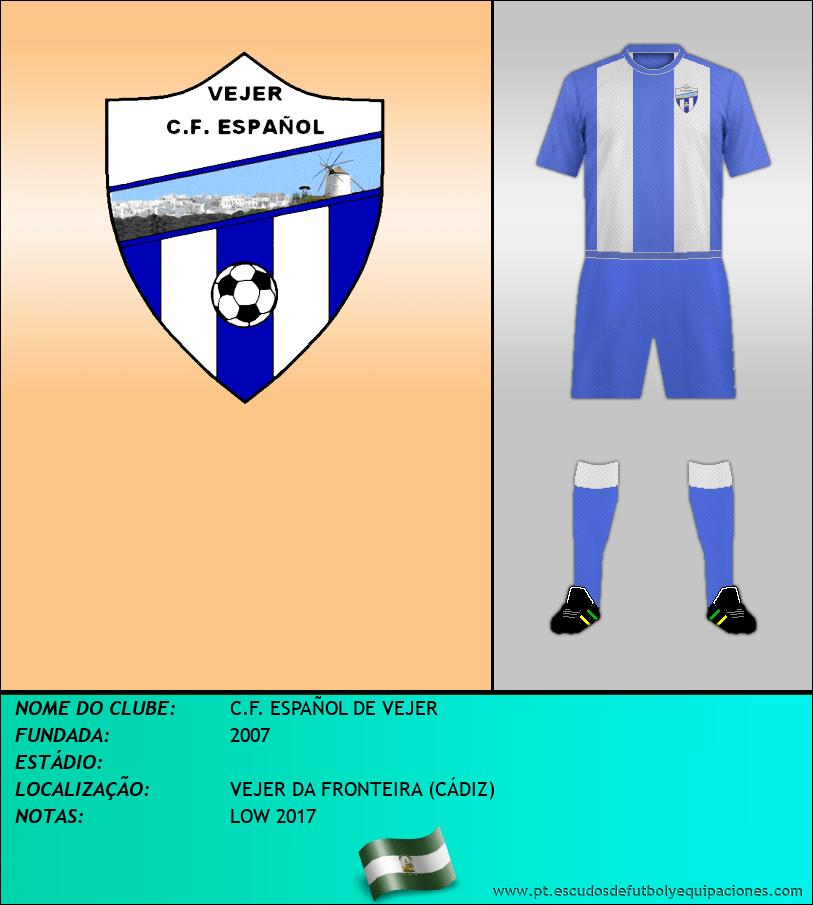 Escudo de C.F. ESPAÑOL DE VEJER