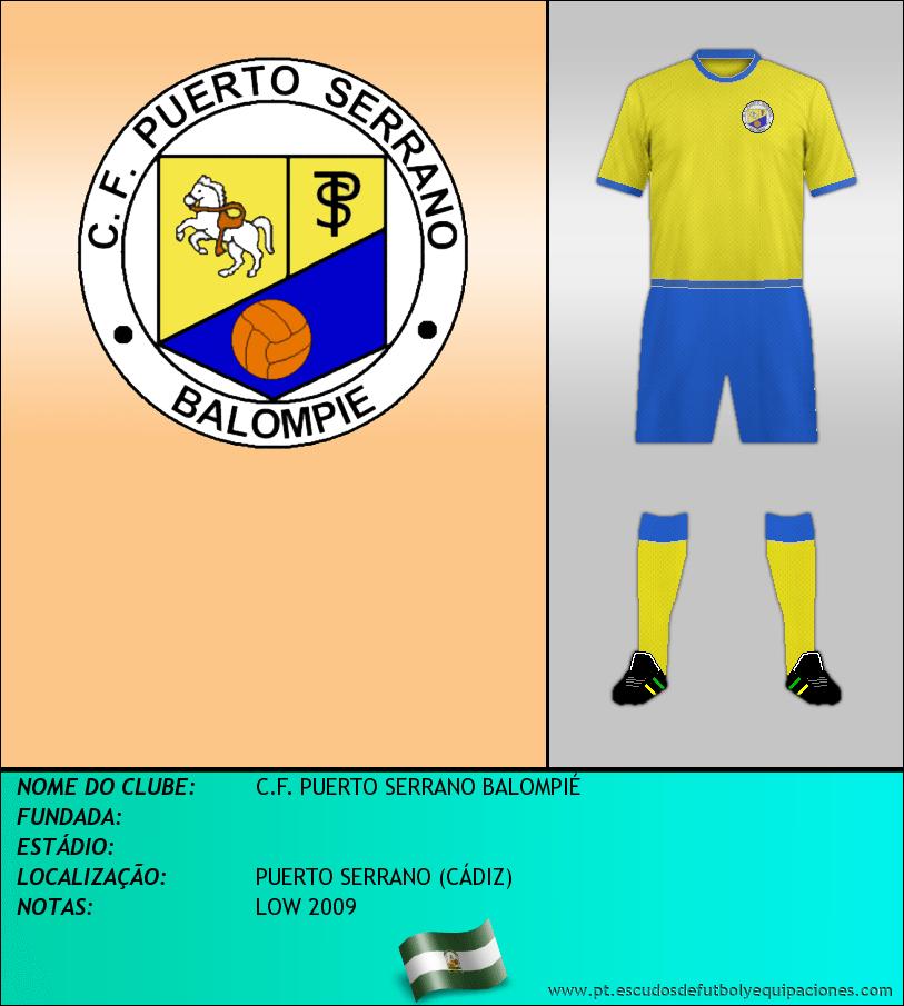 Escudo de C.F. PUERTO SERRANO BALOMPIÉ