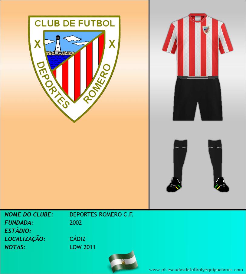 Escudo de DEPORTES ROMERO C.F.