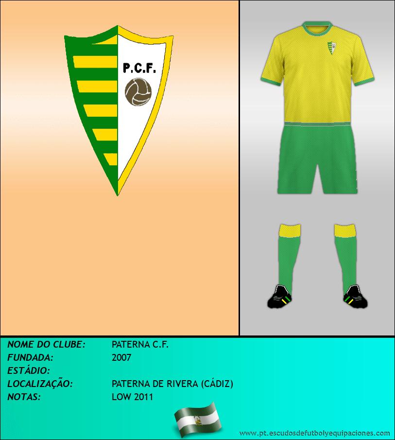 Escudo de PATERNA C.F.