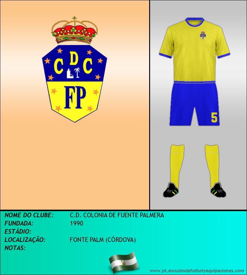 Escudo de C.D. COLONIA DE FUENTE PALMERA