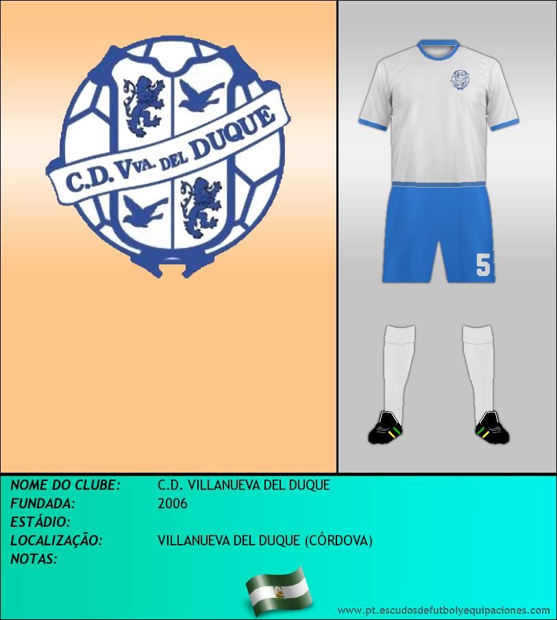 Escudo de C.D. VILLANUEVA DEL DUQUE