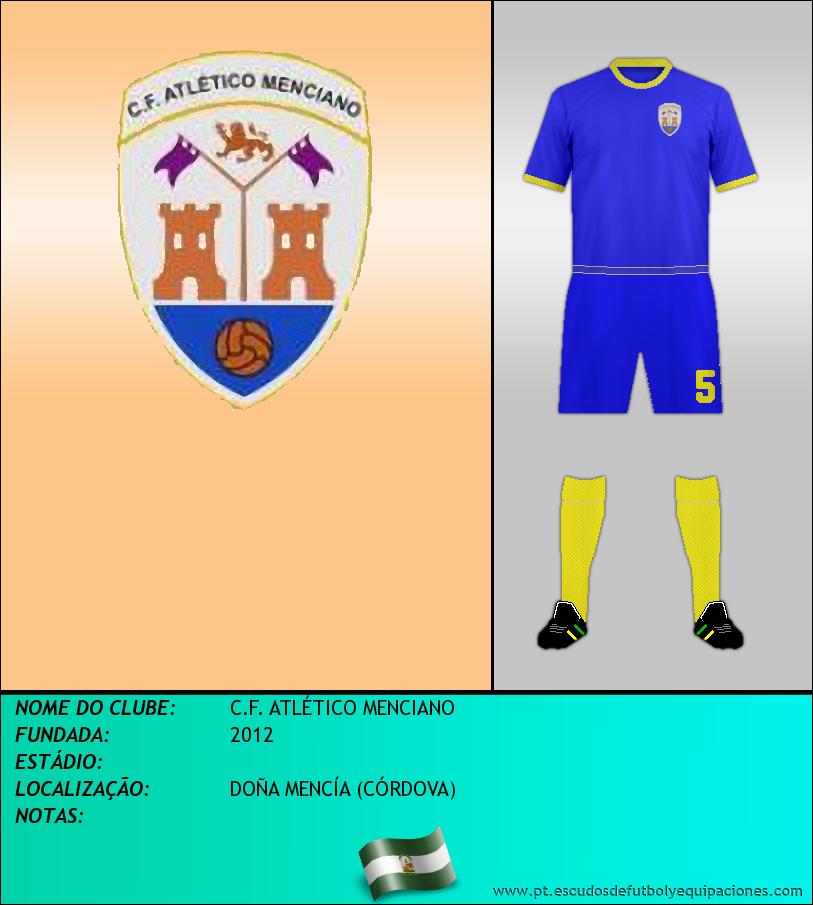 Escudo de C.F. ATLÉTICO MENCIANO