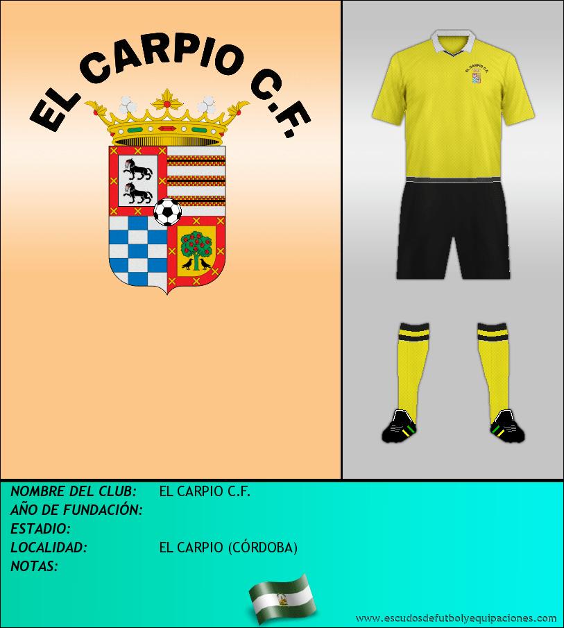 Escudo de EL CARPIO C.F.
