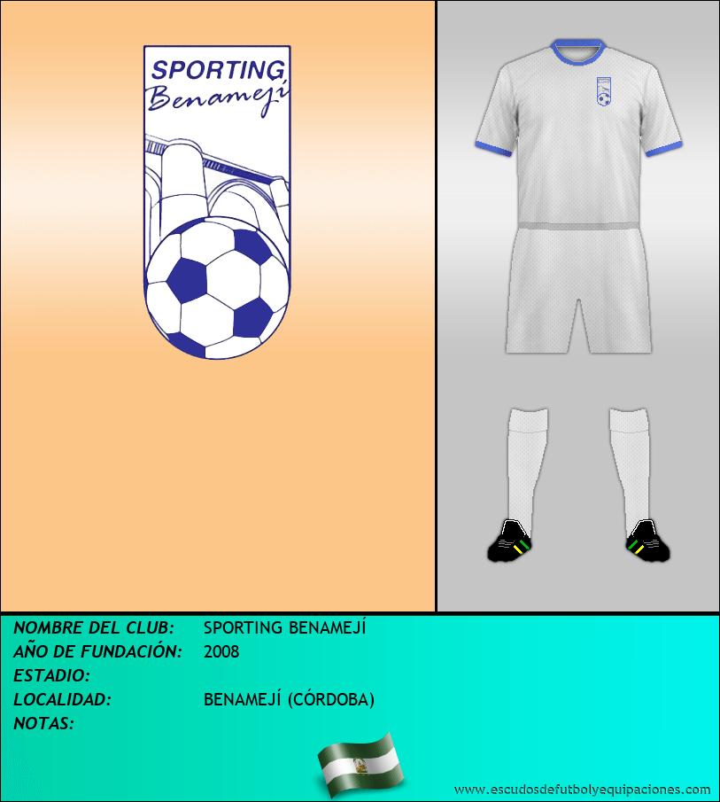 Escudo de SPORTING BENAMEJÍ