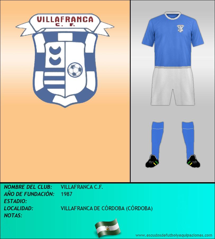 Escudo de VILLAFRANCA C.F.
