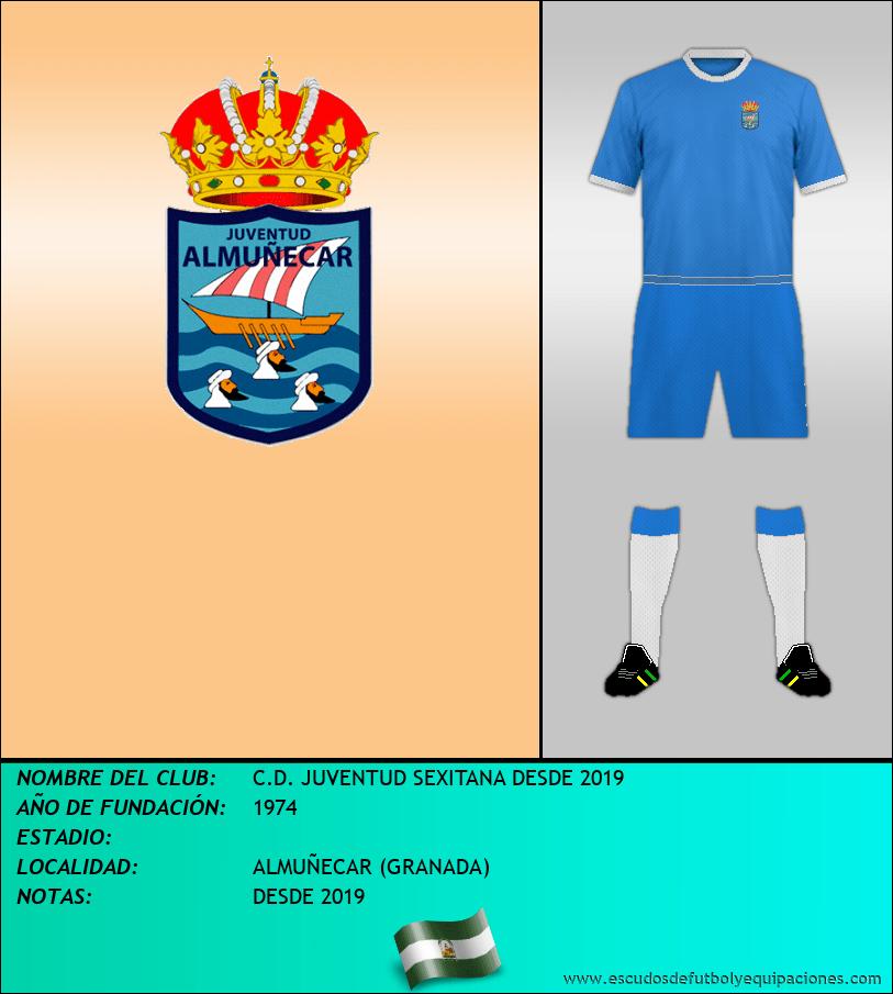 Escudo de C.D. JUVENTUD SEXITANA DESDE 2019