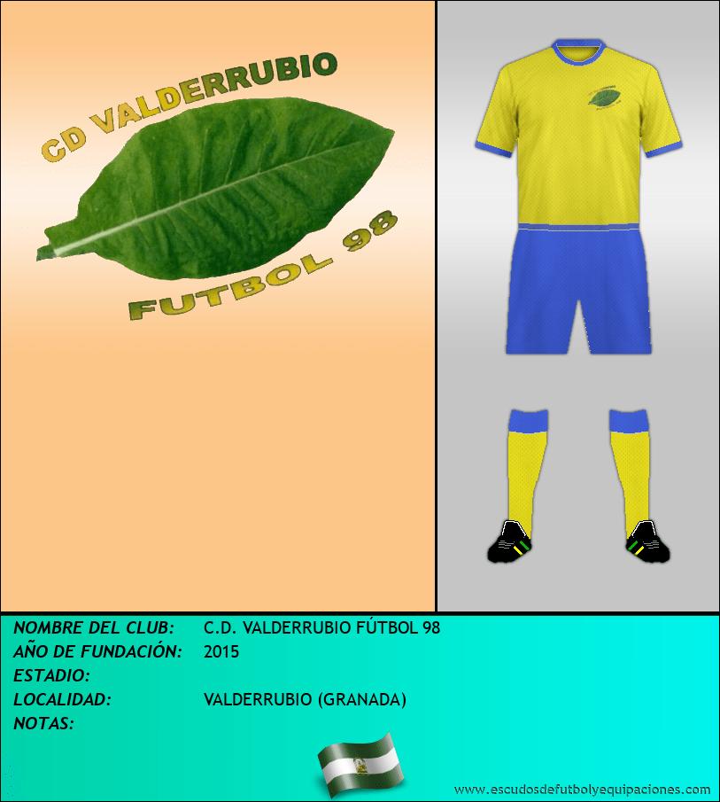 Escudo de C.D. VALDERRUBIO FÚTBOL 98