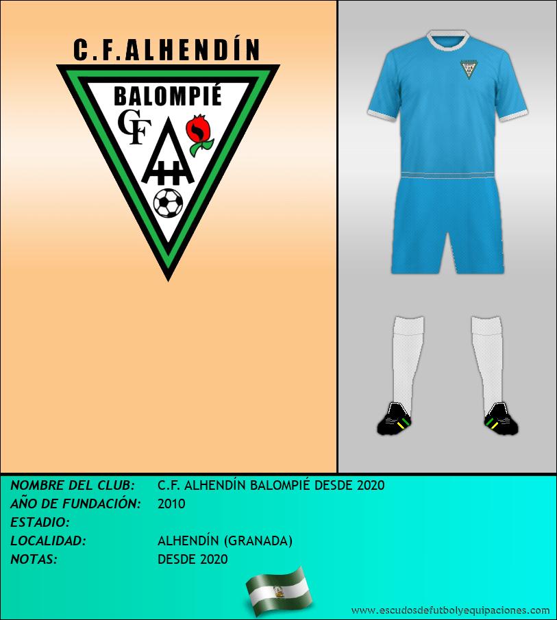 Escudo de C.F. ALHENDÍN BALOMPIÉ DESDE 2020