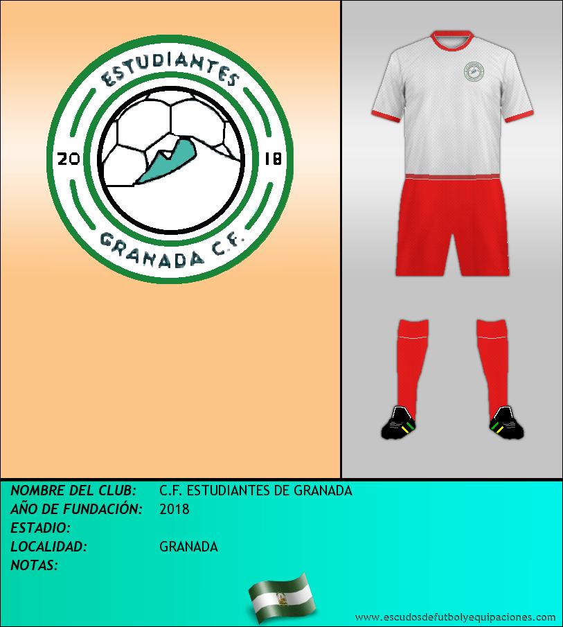 Escudo de C.F. ESTUDIANTES DE GRANADA
