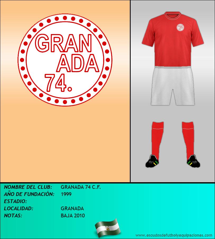 Escudo de GRANADA 74 C.F.
