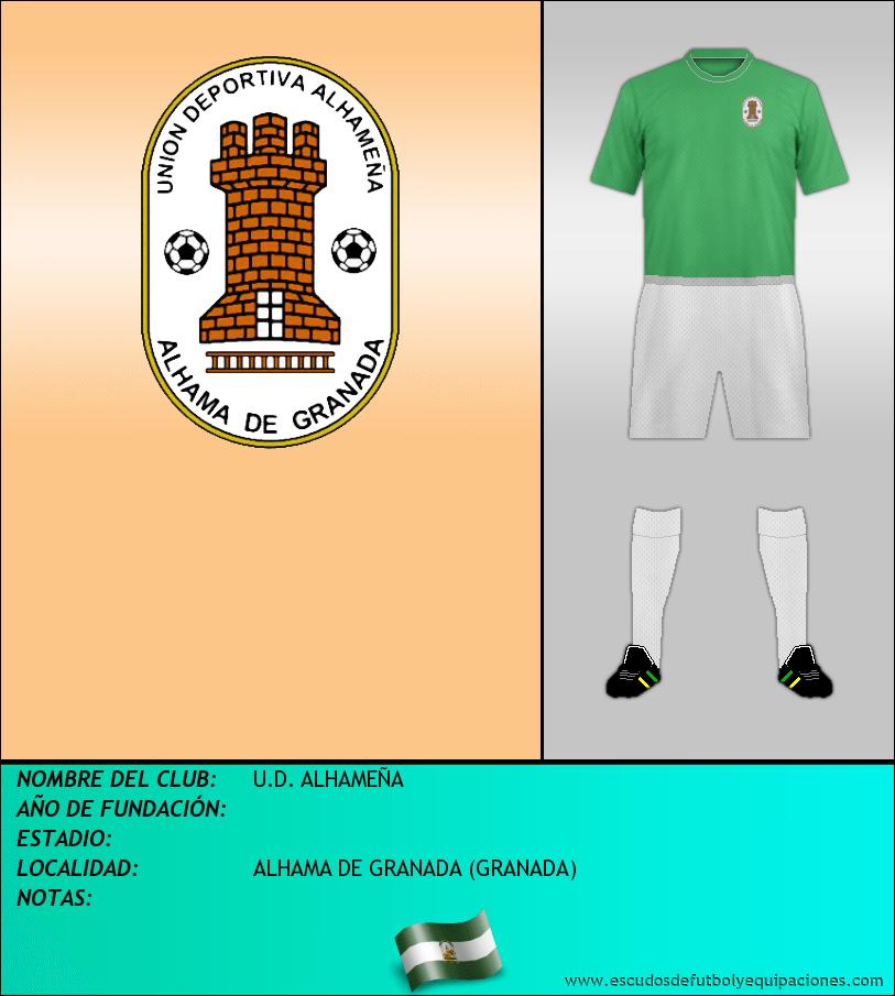 Escudo de U.D. ALHAMEÑA