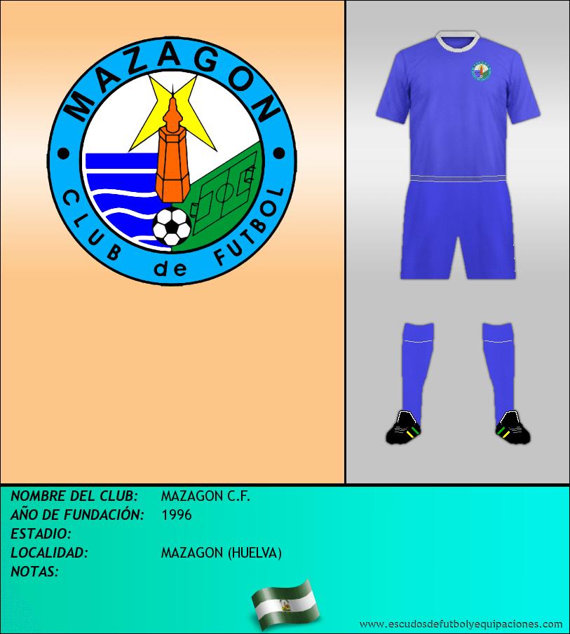 Escudo de MAZAGON C.F.