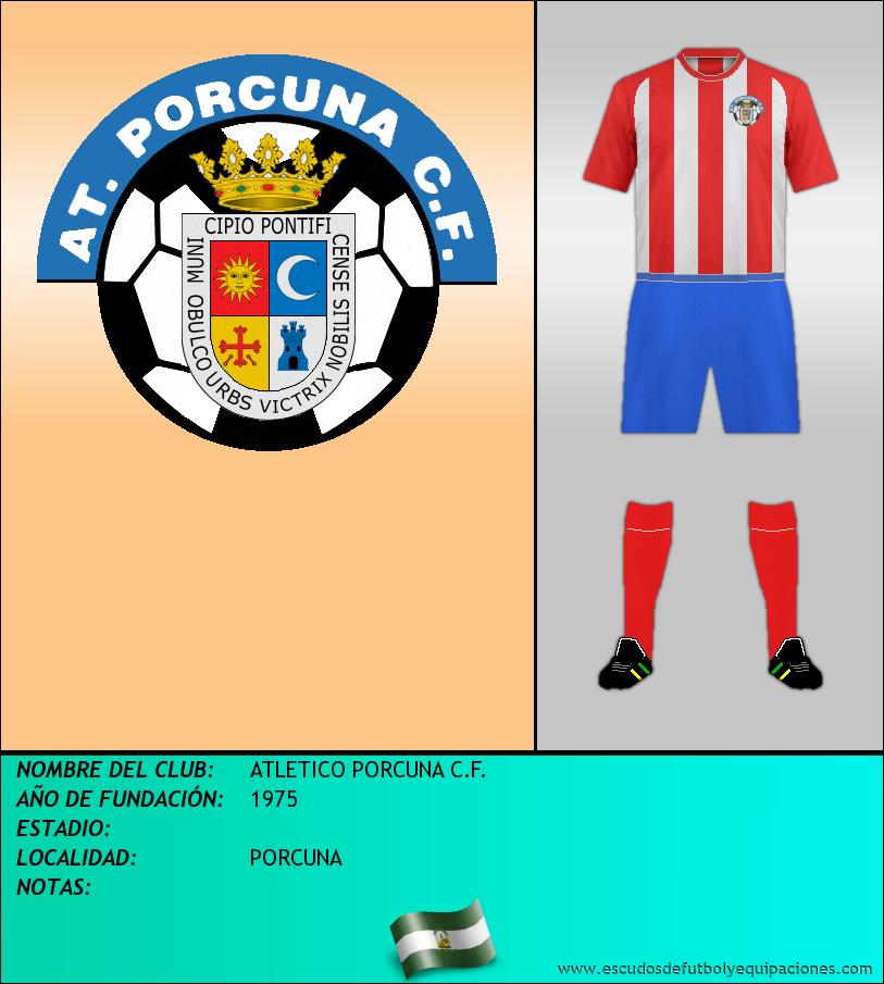 Escudo de ATLETICO PORCUNA C.F.
