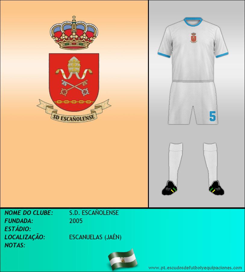 Escudo de S.D. ESCAÑOLENSE