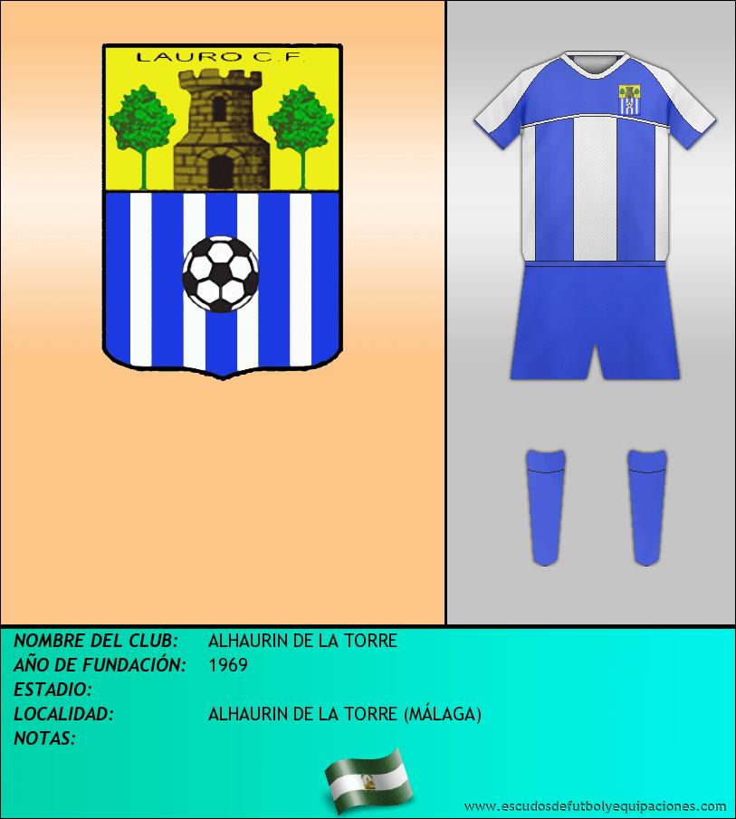 Escudo de ALHAURIN DE LA TORRE