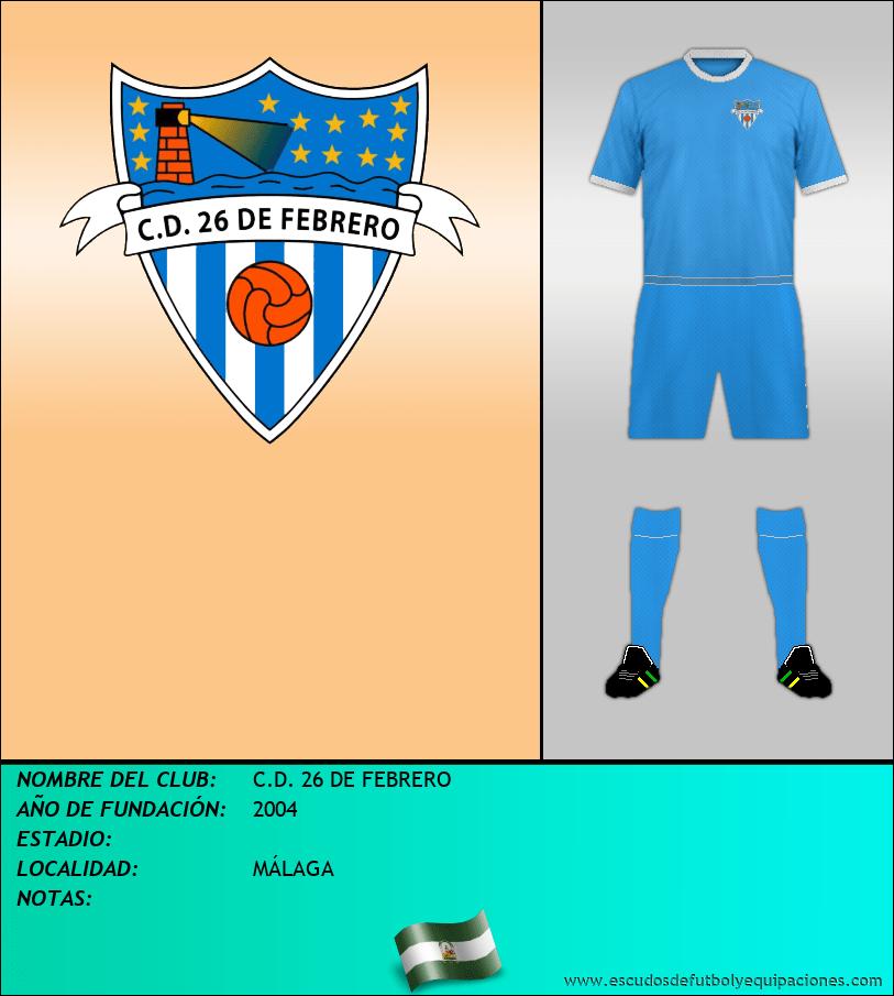 Escudo de C.D. 26 DE FEBRERO