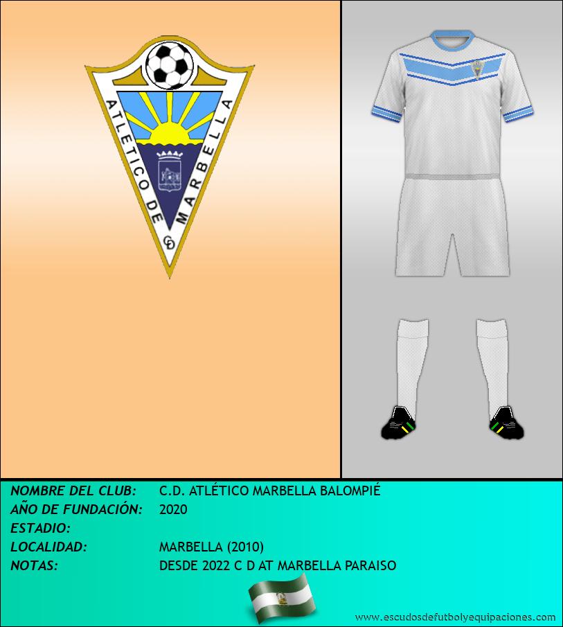 Escudo de C.D. ATLÉTICO MARBELLA BALOMPIÉ