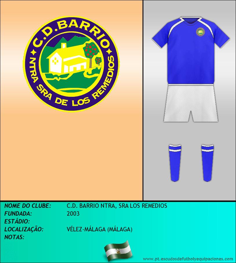 Escudo de C.D. BARRIO NTRA, SRA LOS REMEDIOS