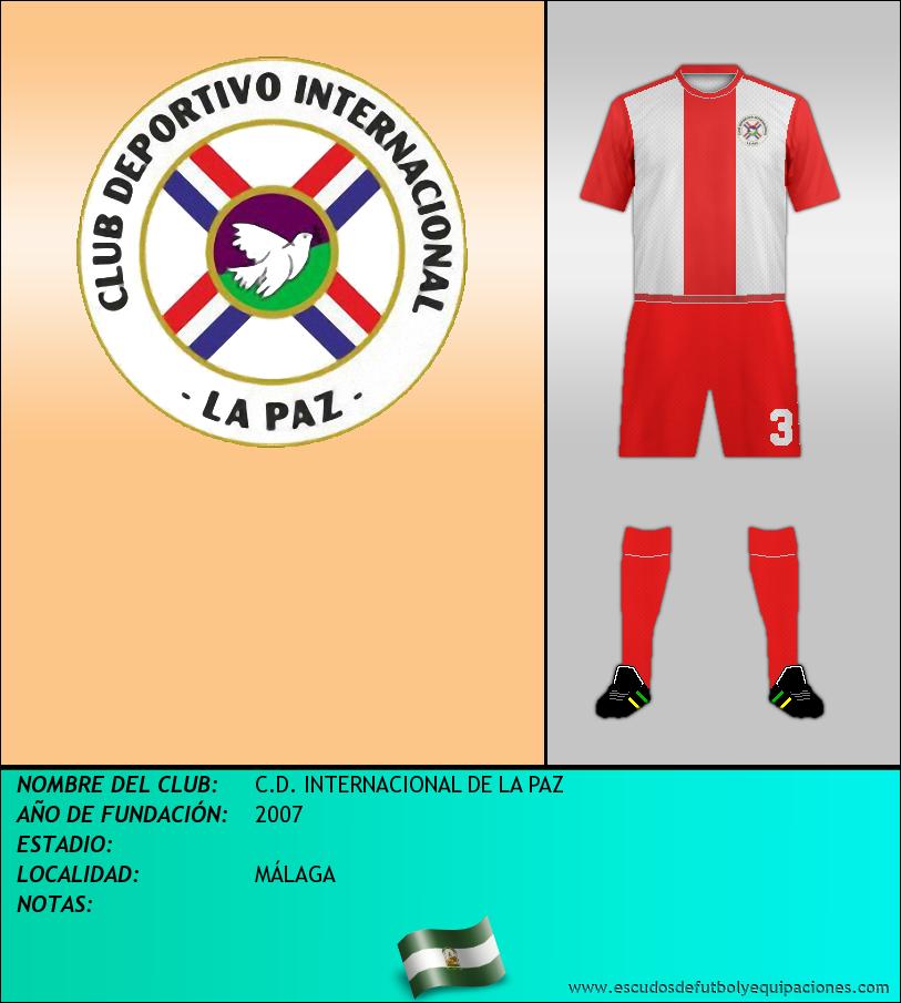 Escudo de C.D. INTERNACIONAL DE LA PAZ