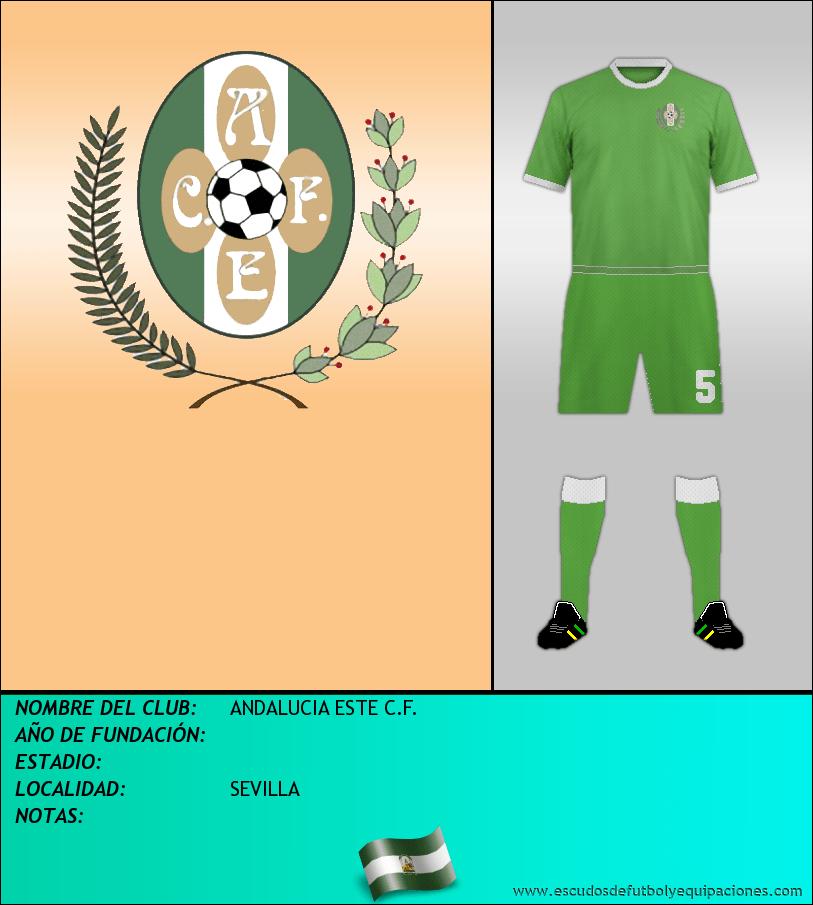 Escudo de ANDALUCIA ESTE C.F.