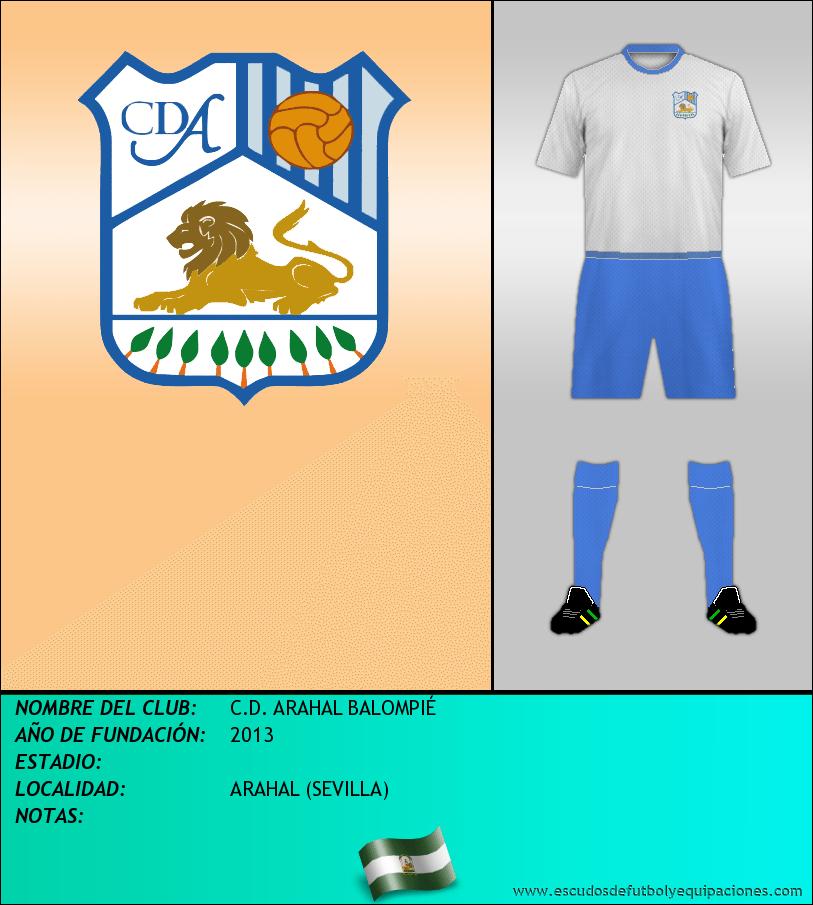 Escudo de C.D. ARAHAL BALOMPIÉ
