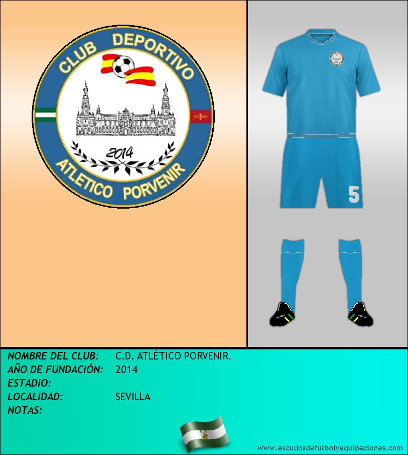 Escudo de C.D. ATLÉTICO PORVENIR.