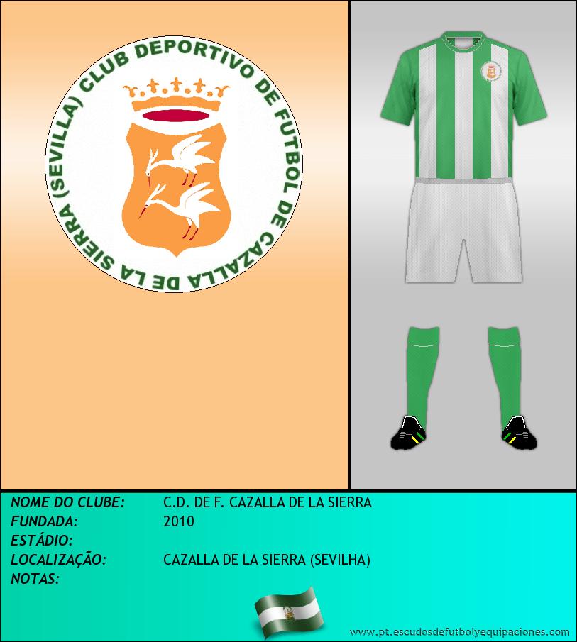 Escudo de C.D. DE F. CAZALLA DE LA SIERRA