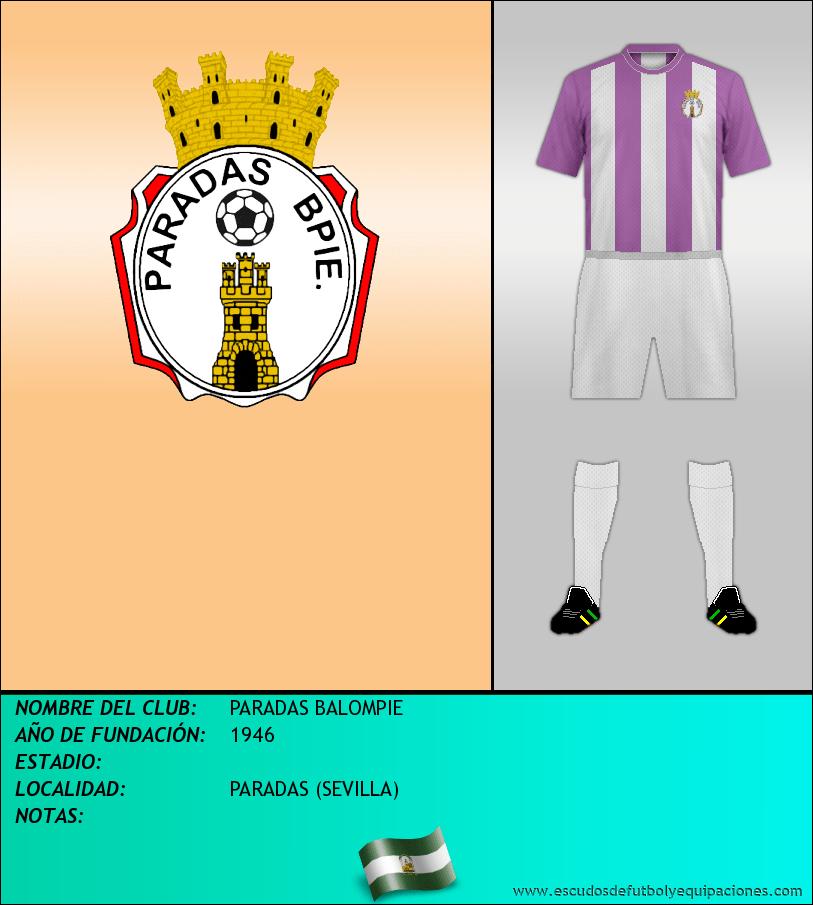 Escudo de PARADAS BALOMPIE
