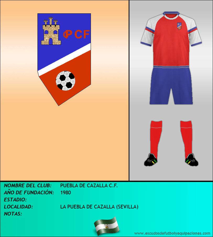 Escudo de PUEBLA DE CAZALLA C.F.