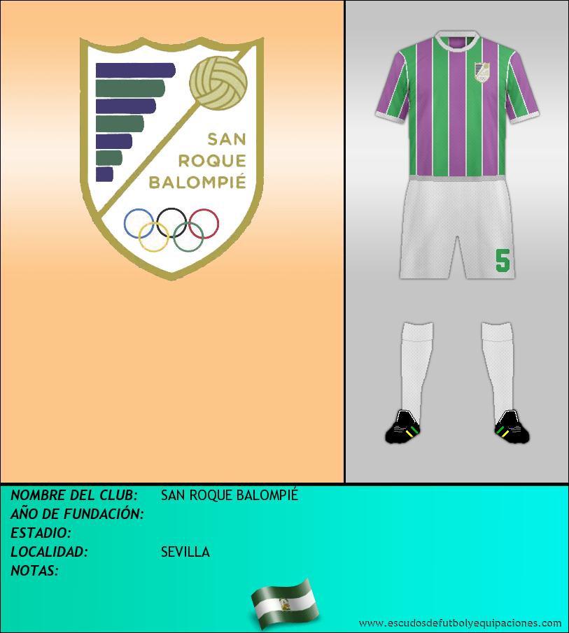 Escudo de SAN ROQUE BALOMPIÉ