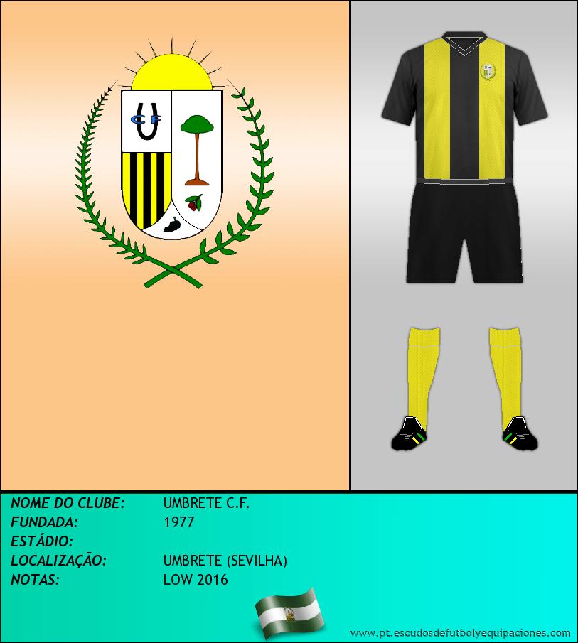 Escudo de UMBRETE C.F.