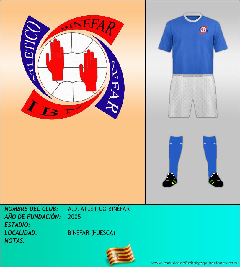 Escudo de A.D. ATLÉTICO BINÉFAR