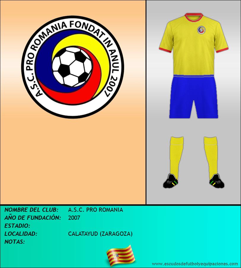 Escudo de A.S.C. PRO ROMANIA