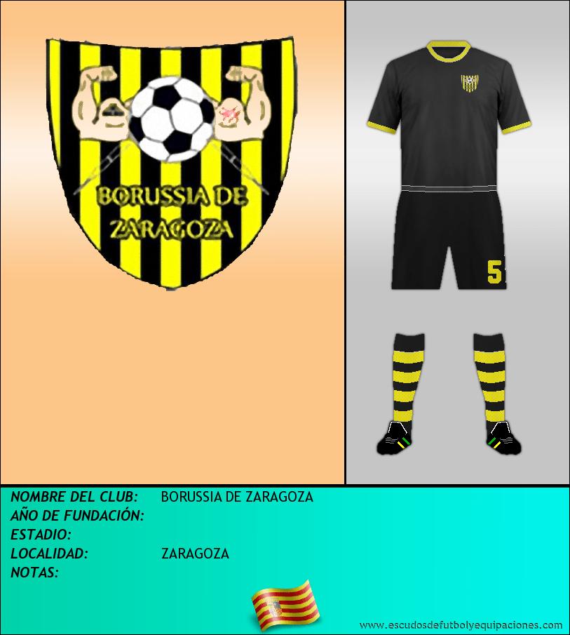 Escudo de BORUSSIA DE ZARAGOZA
