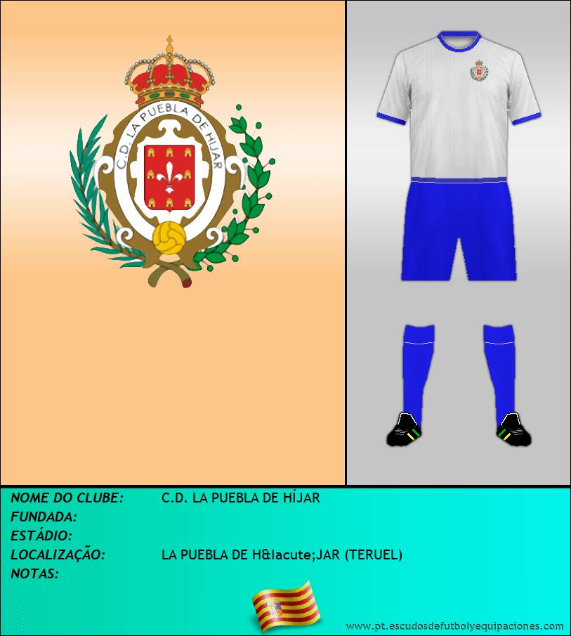 Escudo de C.D. LA PUEBLA DE HÍJAR