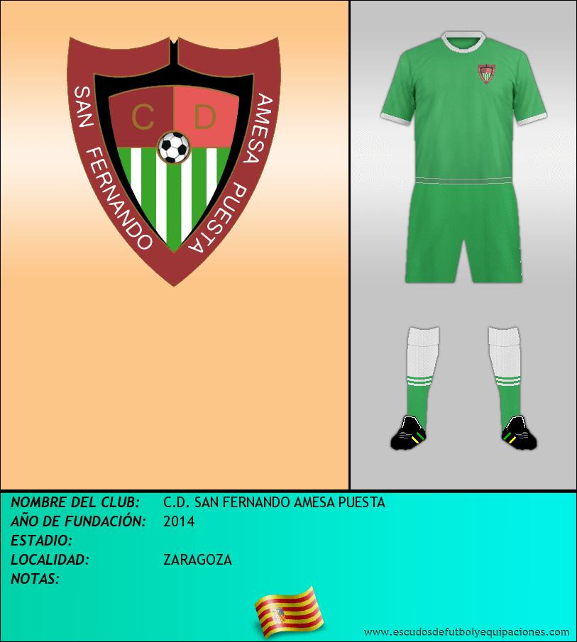 Escudo de C.D. SAN FERNANDO AMESA PUESTA