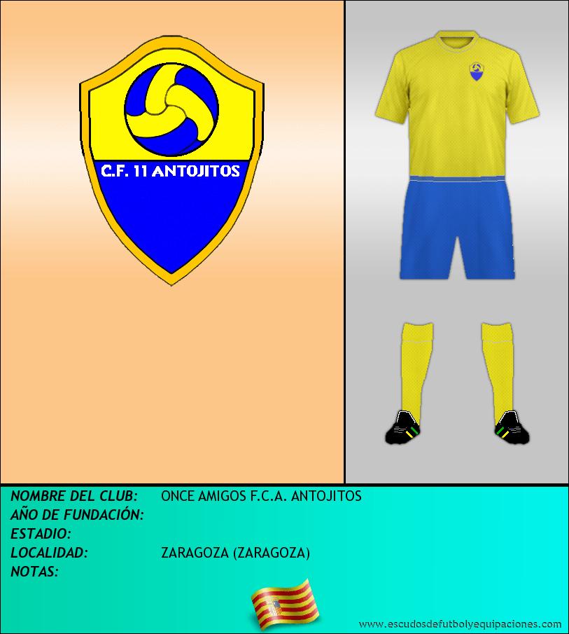 Escudo de ONCE AMIGOS F.C.A. ANTOJITOS