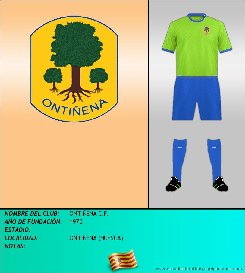 Escudo de ONTIÑENA C.F.