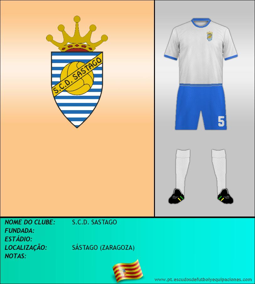 Escudo de S.C.D. SASTAGO