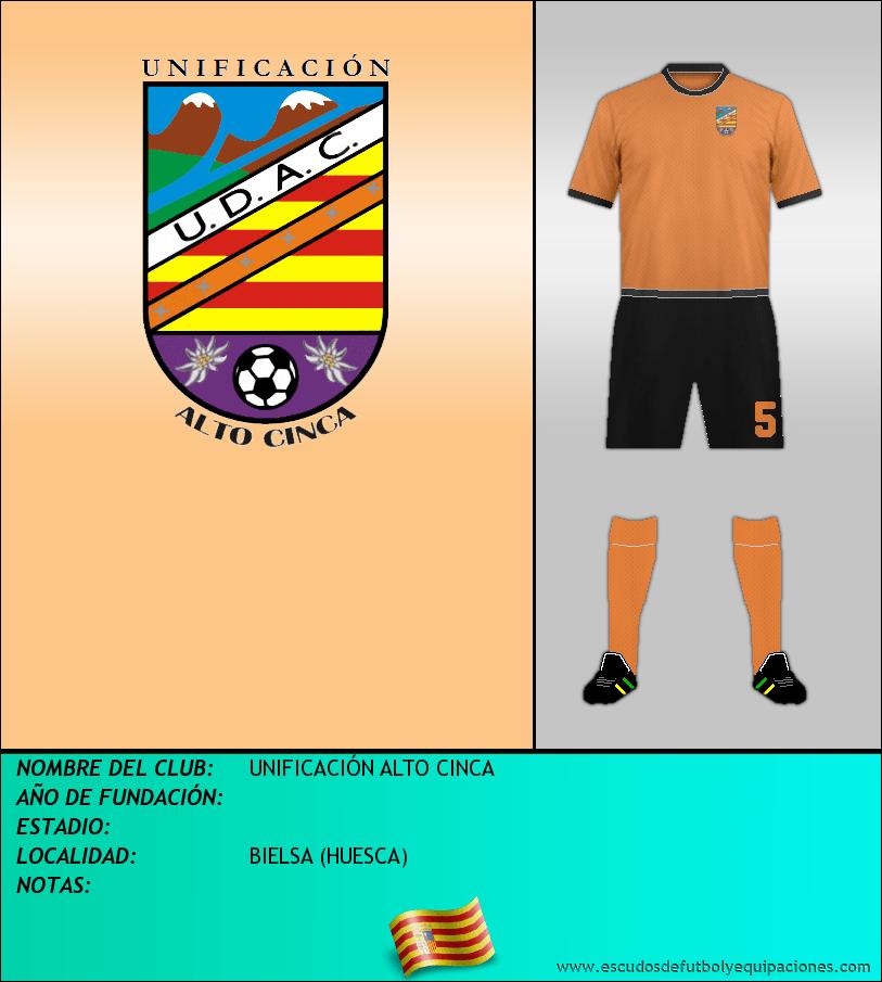 Escudo de UNIFICACIÓN ALTO CINCA