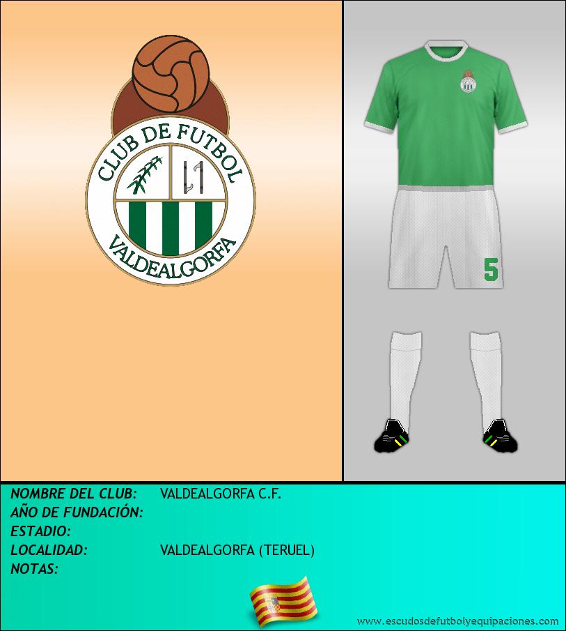 Escudo de VALDEALGORFA C.F.