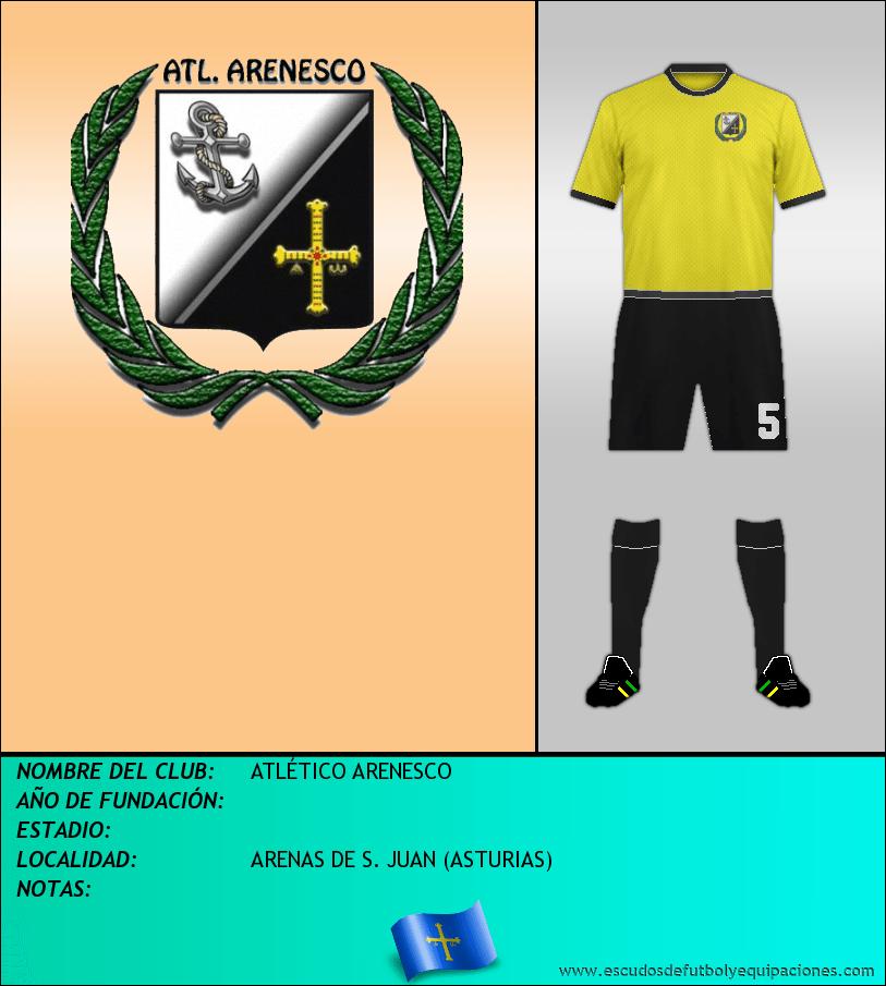 Escudo de ATLÉTICO ARENESCO
